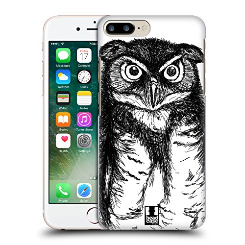 Head Case Designs Pingouin Sketch Animaux Dessinés À Main Étui Coque D'Arrière Rigide Pour Apple iPhone 5 / 5s / SE Hibou Sketch