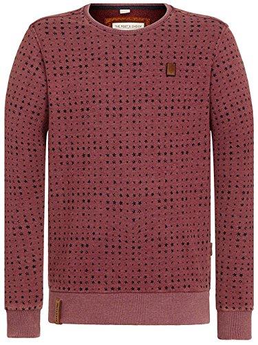 Naketano Male Sweatshirt Tinte Aufm Füller III heritage bordeaux melange