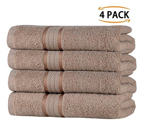 Sweetneedle asciugamani super soft da 4 pezzi 50x90 biancheria, 580 gsm - 100% puro cotone ringspun - lussuoso rivestimento in rayon - ideale per l'uso quotidiano - facile da lavare in lavatrice