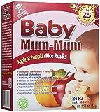 Baby-Mama-Mama, Apfel Kürbis Reis Zwieback, 26 Zwieback, 190 Unzen (54 g) - Hot Kid
