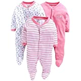 ONLINE CHOICE Born Baby Long Sleeve Cotton Sleep Suit for Boys and Girls Set of 3