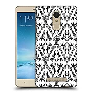 Snoogg Grey Pattern Printed Protective Phone Back Case Cover For Xiaomi Redmi Note 3