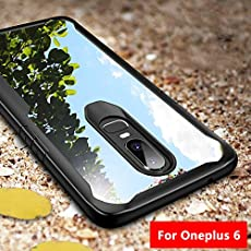 Amozo All Sides Protection Shockproof Back Case with Air Cushion Corners for One Plus 6(Black)