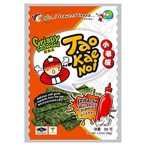 Crispy Seaweed Seaweed,Knusprige Meerealgen mit Chilisauce 3er Pack