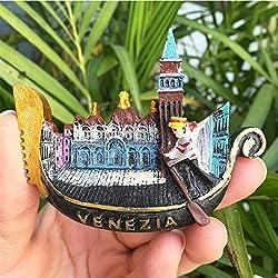 Italia Venezia Gondola a forma di 3D fatti a mano calamite da frigo World Scenery Tourist souvenirs magnetico adesivi Home Decor turismo Gift