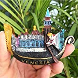 Italia Venecia Góndola con forma de 3d hecho a mano imanes de nevera recuerdos turísticos paisaje mundo magnético pegatinas decoración del hogar regalo de turismo