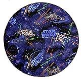 Disney STAR Wars Teppich Spielteppich Kinderspielteppich Weltall blau schwarz, 130 cm rund