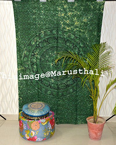 Marusthali Indian Hippie Bohemian Psychedelic Mandala Wandbehang Floral Gold Bettwäsche Tapisserie Mandala böhmischen Tapisserie Mandala Twin Größe 55 X 85 Zoll Gold Floral Tapestry