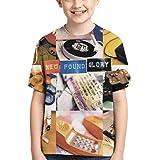 CCANE7 Camiseta Divertida Kid's NewFoundGlory Camiseta de Manga Corta Impresa en 3D de diseño para niñas y niños
