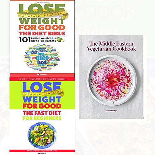 middle eastern vegetarian cookbook[hardcover], lose weight for good the diet bible and fast diet for beginners 3 books collection set - weight loss with intermittent fasting,101 lasting weight loss