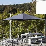 Ikarus Ampelschirm inkl. Schirmständer 250 x 250 cm - anthrazit
