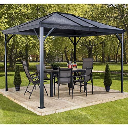 Aluminium Pavillon Überdachung Gazebo Ventura 10x14 // 296x423 cm (BxH) // Gartenlaube und Gazebo mit Hard-Top Dach von Sojag