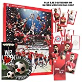 FC Bayern München Comic Adventskalender XXL inkl. Autogrammkarten Plus je 5 x gratis Lesezeichen & Aufkleber Wir lieben Fussball