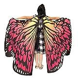 Honestyi Kid Baby Girl Butterfly Wings Schal Schals Nymphe Pixie Poncho Kostüm Zubehör Spezieller Schmetterlingsflügelschal der Kinder tanzen