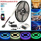 Wasserdicht IP 65 LED Streifen Arbeitet mit Alexa, Google Home, IFTTT, Wifi Wireless Smart Phone Gesteuert Led Strip 5m RGB LED Band Lichtleiste Full Kit
