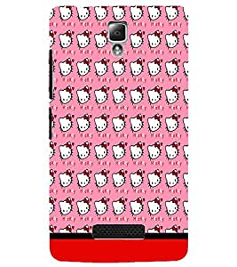 PrintDhaba Kitty pattern D-1778 Back Case Cover for LENOVO A2010 (Multi-Coloured)