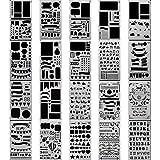sonicee 20Stück Bullet Tagebuch Schablone Kunststoff Planer DIY Zeichnen Vorlage Diary Basteln für Fotoalbum Notebook Scrapbook Projekte