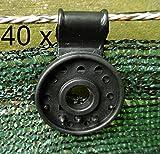 EXCOLO 40 Clip Befestigung Halter für Schattiergewebe Sichtschutz Blende Zaun-Blende Schutznetz