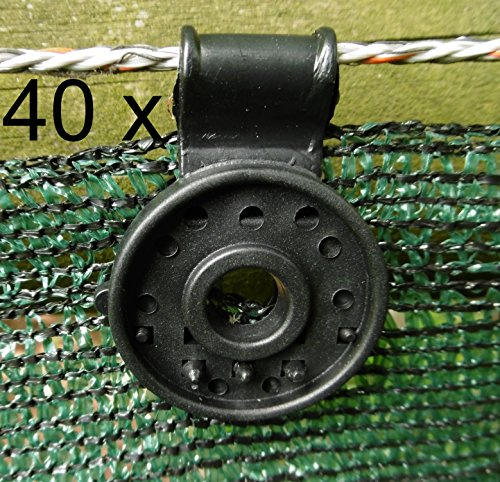 EXCOLO 40 Clip Befestigung Halter für Schattiergewebe Sichtschutz Blende Zaun-Blende Schutznetz (Blende)