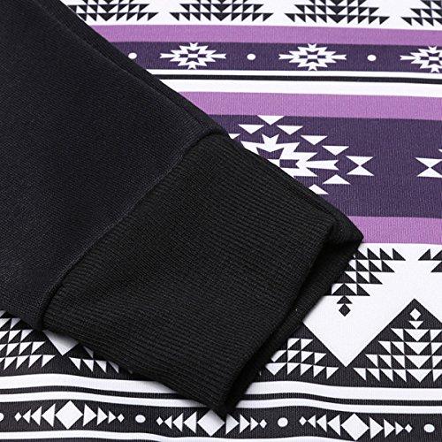 Autunno Stampa Coulisse Tasca Del Canguro Sciolto T-shirt Nero Bianco 2 Colori Felpa Con Cappuccio Black