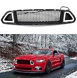 Für Mustang Front Bumper Kapuze Grill mit DRL LED weißes Licht Einsatz 2015–2017 …