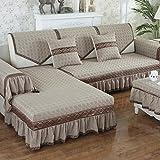 M&XGF Stretch-Couch Abdeckungen Für Sofa, Schonbezug Für Wohnzimmer, Weich Dauerhaft Bleiben Sie Im Platz-B 100x240cm(39x94inch)