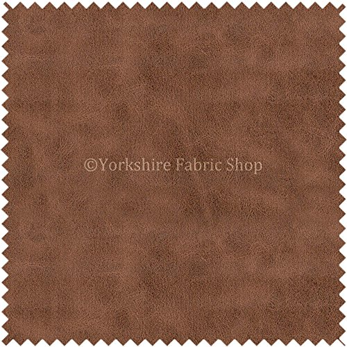 aged-distressed-faux-nubuck-leather-fabric-soft-semi-sueded-suede-in-conker-brown-finish-use-cars-ou
