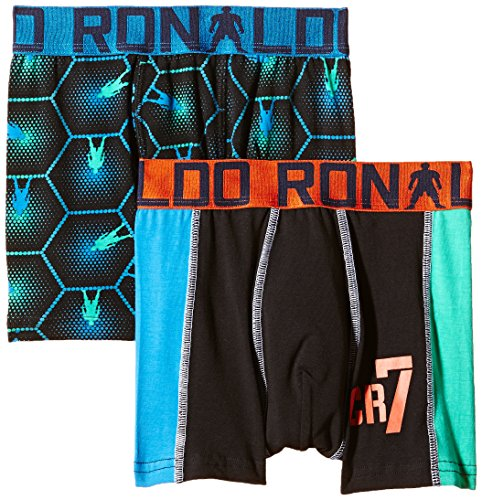CR7 Cristiano Ronaldo Boys' Tight-Fit Boxers Boys Line Trunks Pack of 2 Test
