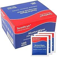 Lingette Desinfectante d'alcool à 75% Lingettes Emballées Individuellement pour Nettoyer Lunettes, Clavier, Téléphone et…