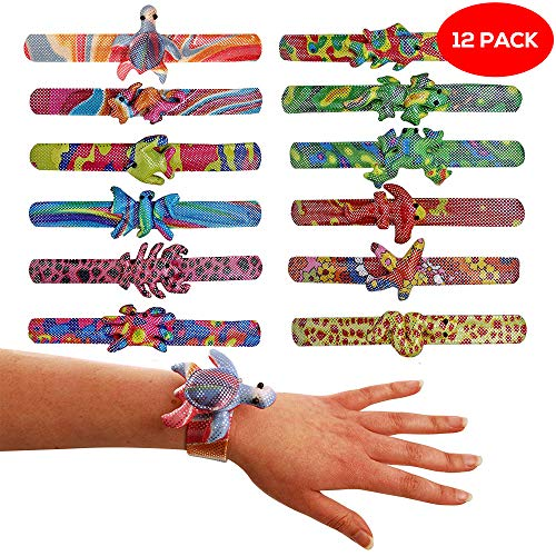 The Twiddlers 12 Snap On Bracelets in Different Animal themed Designs for Kids - Perfect Toys Pi�ata, Birthday & Christmas Stocking Fillers, Party Bag Favours, Classroom Prizes, Rewards & Xmas