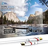 CSL - 10m UHD HDMI 2.0b Cable | 4K @ 60Hz / 2160p / 4:4:4 (High Speed) with Ethernet | ARC and CEC | Deep Color | fully HDCP compliant/HD Ready / 3D TV/Playstation 4 Pro/Nintendo Switch ecc