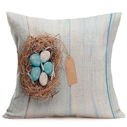 JMETRIC Festliches Freizeit Kissenbezug Schutzbezüge Ostern Kissenbezug Kaninchen Drucken Kissenbezug Heimtextilien(P)