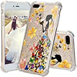 Iphone 8 Plus Case, JEXICASE Multi-colored Butterfly Girl Pattern Clear Shock Absorption Technology Bumper Hybrid Protective Cover Case For Iphone 8 Plus 5.5 Inch