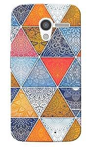 Moto X 2013 Case, Multi Triangle Slim Fit Hard Case Cover/Back Cover for Motorola Moto X 2013