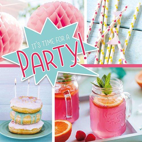 20 Servietten Sommer Party Strand Limonade Pink