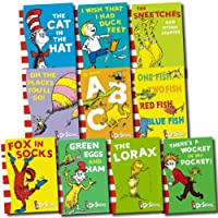 Dr Seuss Collection 10 Books Set (Cat in the hat, Green eggs and ham, Oh, the places you