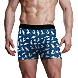 Slip Boxer per Uomo Traspirante Piccolo squalo Mutande Intimo Elasticizzato Morbido ad Asciugatura Rapida Azione Ispirata all