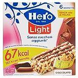Hero Light Barrette ai Cereali Cioccolato  - 10 Confezioni da 6 X20 g