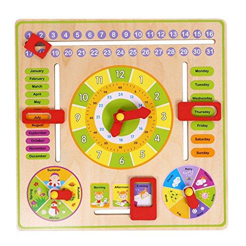 Domybest Kognitive Kalender Uhr Multifunktions Abstellgleis Frühe Bildung Spielzeug -