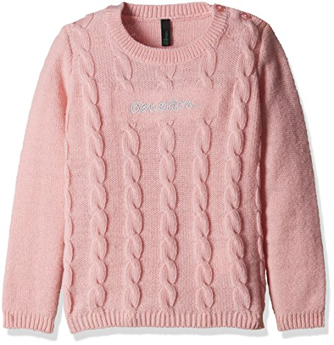 United Colors of Benetton Baby Girls' Sweater (16A1TRIC0010IK281Y_Light Pink_1Y)