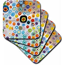 3dRose cst_82072_2 Italy, Venice, Millefiori Glass Abstract-Eu16 Bja0694-Jaynes Gallery-Soft Coasters, Set of 8