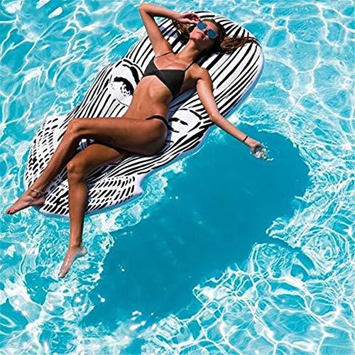 HHS Megan-Swim Schwimmbad Luftmatratze Strand Mat Aufblasbare Pool Float Lounge Floß Sommer Strand Insel for Party Feier Liefert Party Spielzeug (1 Paket) Float Wasserspielzeug zum Spaß - Stauraum-insel