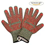 MINISTAR Kitchen Cooking Mitts-Grill Gloves 932℉ Extreme High Heat Resistant Oven/Cooking Gloves Super