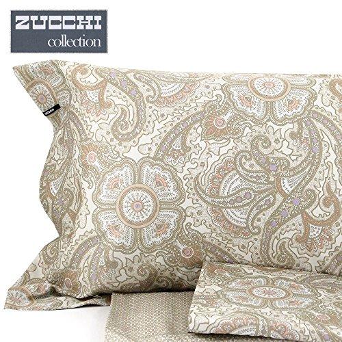 Zucchi collection completo lenzuola matrimoniale da 110 fili di puro ...