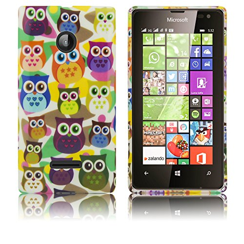 Microsoft Lumia 532 Silikon-Hülle Kleine Eule weiche Tasche Cover Case Bumper Etui Flip smartphone handy backcover thematys®