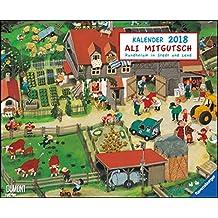 Ali Mitgutsch 2018 – Wimmelbilder – DUMONT Kinderkalender – Wandkalender 52 x 42,5 cm – Spiralbindung: Rundherum in Stadt und Land