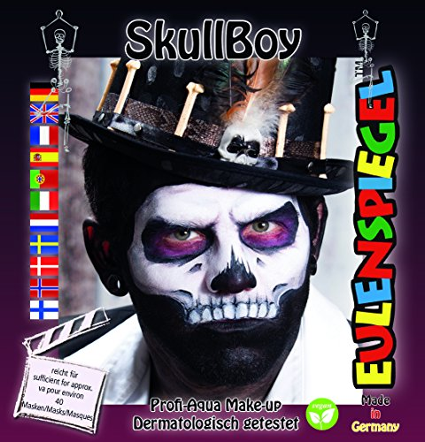 Eulenspiegel Motiv Set Skull - Body Paint Kostüm Männer