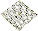Lialina Transparentes Universal Patchwork-Lineal 30 x 30 cm / 2farbiger Druck cm Linien Raster 30/45/60 Grad Winkel-Maße / Papier + Stoff exakt mit Rollschneider zuschneiden