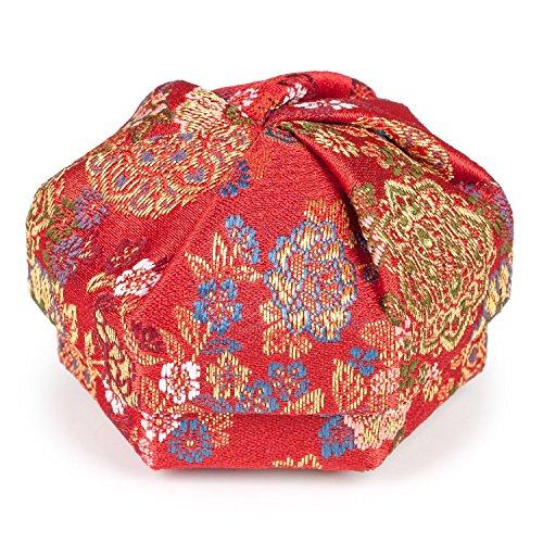 Florale Rouge Boîte à Bijoux Japonaise Traditionnelle