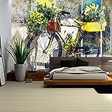 Shukun carta da parati Carta da parati murale 3D di alta qualità non tessuto 3D di alta qualità Carta da parati floreale della priorità bassa della carta da parati della retro bicicletta 3D